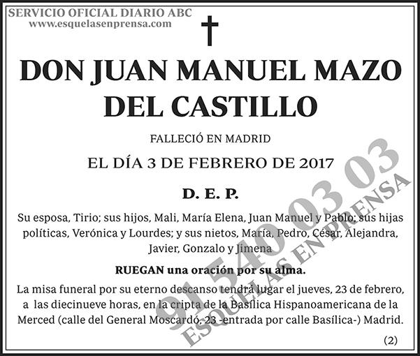 Juan Manuel Mazo del Castillo